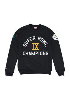 Mitchell and Ness Pitt Steelers Mens Black Champs Fashion Sweatshirt