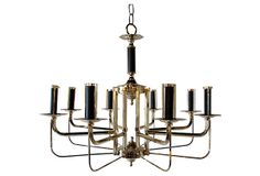 Midcentury Geometrical Brass Chandelier on OneKingsLane.com