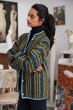 Adult Retrospective Crochet Jacket — Misha & Puff
