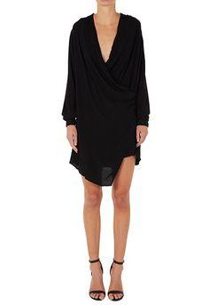 FALL AWAY DRESS   BLACK