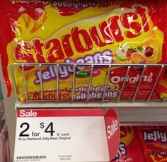 after coupon and cartwheel get Starburst jellybeans for just $.90 cents