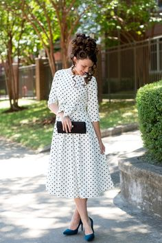 Shop now for Modern Modest Vintage Apparel. Tons of Adorable Dresses, Bridesmaid Dresses, Tops, Skirts, Swimwear. We also have MODEST Swimwear! Casual Skirt Outfits, Modest Outfits, Classy Outfits, Modest Fashion, Vintage Outfits, Modest Clothing, Modest Apparel, Apostolic Fashion, Vintage Dress