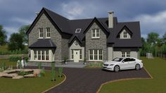 2 Storey House Design, Two Storey House, Bungalow House Design, Dormer House, Dormer Bungalow, Two Story House Plans, New House Plans, Rural House, Cottage House Plans