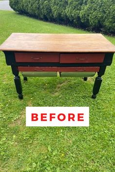 Love flea market and thrift store? Check out this painted furniture upcycle idea. This Farmhouse furniture flip is perfect for your living room, kitchen or dining table. Check out the before and after of this table makeover DIY project. #hometalk Farmhouse Kitchen Tables, Farmhouse Furniture, Upcycled Furniture, Painted Furniture, Diy Furniture, Furniture Design, Handmade Home Decor, Diy Home Decor, Bakers Table