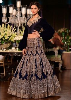 Beautiful Indian Wedding Dress 2015 : Great Manish Malhotra Black Indian Wedding Dress 2015