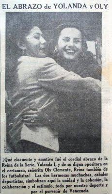 El 01/10/1941 el pueblo votó por la Reina del Beísbol (VII Serie Mundial del Beisbol) Yolanda Leal y Oly Clemente
