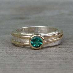 Chatham Emerald Engagement Wedding or Everyday von McFarlandDesigns