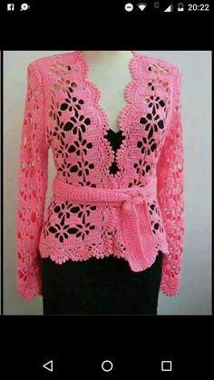 Fabulous Crochet a Little Black Crochet Dress Ideas. Georgeous Crochet a Little Black Crochet Dress Ideas. Gilet Crochet, Crochet Coat, Crochet Jacket, Crochet Cardigan, Crochet Clothes, Crochet Stitches, Crochet Patterns, Bolero Sweater, Bolero Crochet