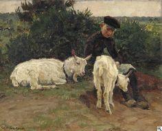 Julius Paul Junghanns: Der Ziegenhirte aus unserer Rubrik: Gemälde des 19. Jahrhunderts