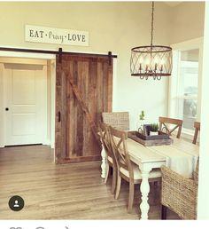 Lighting over table Farmhouse Kitchen Lighting, Kitchen Lighting Over Table, Farmhouse Table, Kitchen Decor, Kitchen Ideas, Cozy Cottage, Home Reno, Windows And Doors, Transom Windows