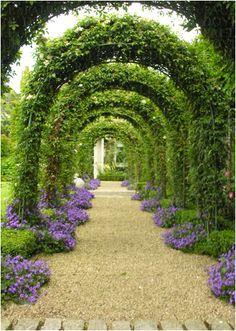 Wonderful Secret Garden Pathway Design Ideas For Backyard Garden Arbor, Garden Paths, Garden Beds, Backyard Pergola, Backyard Landscaping, Pergola Kits, Pergola Ideas, Pergola Roof, Arbor Ideas