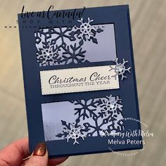 Stamping With Melva: Time of Giving - Snowflakes