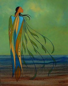 Summer Winds by Maxine Noel - Contemporary Canadian Native, Inuit & Aboriginal Art - Bearclaw Gallery