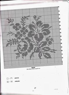 "Photo from album ""Crochet Creations - - on Yandex. Filet Crochet Charts, Crochet Motif, Crochet Doilies, Crochet Lace, Crochet Stitches, Crochet Edgings, Knitting Patterns Free, Crochet Patterns, Crochet Decoration"