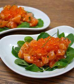 Salmon Tartare w/Caviar