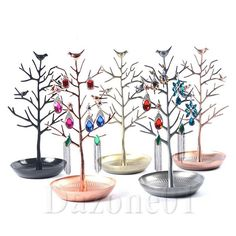 4 Color Birds Tree Jewelry Stand Display Earring Necklace Holder Organizer Rack | eBay