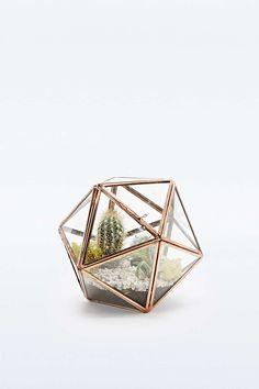 Urban Grow Star Terrarium Planter in Copper