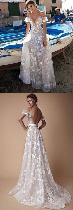 White v neck lace off shoulder long prom dress, white evening dress, #seoydress #prom #dresses #fashion #eveningdress