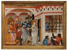 Francesco di Antonio Zacchi, called 'il Balletta' Viterbo, documented 1430 - Saint Agatha of Sicily Imprisoned and Visited by Saint Peter Panel, x cm. Courtesy of Moretti Fine Art. Lovers Art, Art History, Saints, Fine Art, Painting, Antique Shops, Painting Art, Paintings, Visual Arts