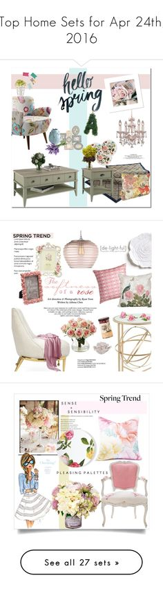 """""""Top Home Sets for Apr 24th, 2016"""" by polyvore ❤ liked on Polyvore featuring interior, interiors, interior design, home, home decor, interior decorating, Crystorama, Frontgate, Ameriwood and Talking Tables"""
