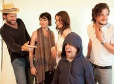 Tyrion, Jaime, Cersei, Dany and Jon actors mucking around - Game of Thrones