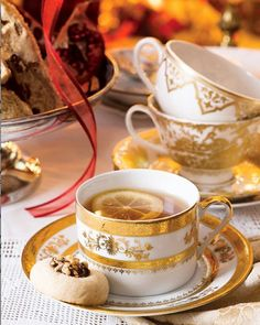 In our November/December issue, we invite you to a joyful holiday tea. Enjoy the blissful hours dedicated to this elegant ceremony with our delicious recipes for Currant-and-Fig Tartlets, Lemon-Poppyseed Sandwich Cookies, and Chocolate-and-Hazelnut Thumbprint Cookies.