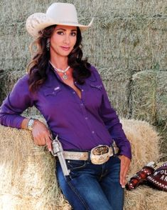 "MEET ""OUTLAW ANNIE"" - Cowboy Mounted Shooting Association - Promotional Still."