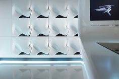 Island Kitchen by Zaha Hadid Zaha Hadid Design, Architectes Zaha Hadid, Form Architecture, Innovation, Panel Led, Led Bleu, Futuristisches Design, Brutalist, Decoration