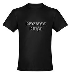 Massage Ninja Organic Men's Fitted T-Shirt (dark)