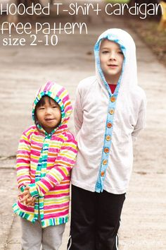 Today's free pattern is a fun hack on the free t-shirt patterns I've previously shared. I'll show you how to make a cardigan front and add a hood to the t-shirt pattern. This creates a fun hooded t-shirt cardigan all made from free patterns.  There is a free printable hood pattern and then you will …