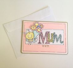 Mother's Day Card  Mum Mothers Day  Bee  by JessideeHandmade