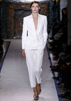 """Stefano Pilati's latest version of the iconic YSL """"le smoking."""""""