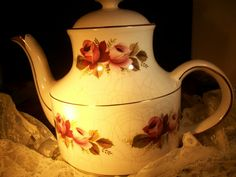Vintage Rose Tea Pot   England  by THEPARISBOUTIQUE on Etsy, $20.00