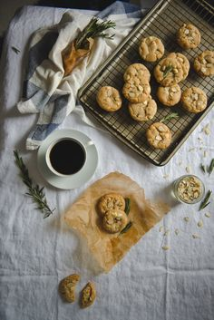 Rosemary, almond, & white chocolate cookies; an ode to change. - Two Red Bowls