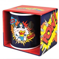 Awesome Wonder Woman mug in it's own presentation box. ON SALE £5.99.