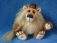 Король - Лев - лев,авторская работа,авторские украшения,друг тедди,львёнок