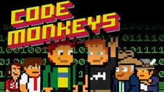 Code Monkeys-Designed in the style of an early-1980s video game, this outrageous animated series centers on the gonzo programmers at tech startup GameaVision and their antiheroic struggles to get their ideas off the ground....I used to watch this on G4, hilarious, but not for the easily offended.