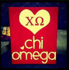 8inch x 10inch  Chi Omega Greek Sorority by pinksparklesandlove, $21.99