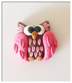 Polymer Clay Owl, Polymer Applique by PiperPixieDesigns, via Flickr