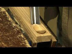 "I'm fast becoming a fan of this fellow and his ""Affordable for anyone"" style of woodworking/teaching...▶ Making a spoon with a gouge and spokeshave - with Paul Sellers - YouTube"