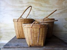 Vintage Reed Basket by WhatsNewOnTheMantel on Etsy, $9.00