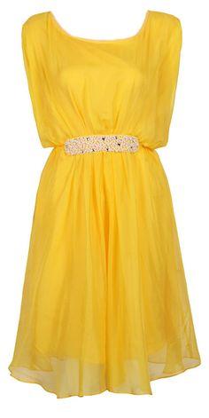 Yellow Silk + Pearls Dress <3 Love!