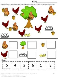 Farm Animals are important part of life on the farm. Some are for producing food, others help with the farming and others for pleasure and companionship. Farm Animals Cut and Paste 18 page Worksheet Set features animals you would find on the farm. Animal Worksheets, Kids Math Worksheets, Animal Activities, Farm Animals Preschool, Preschool Learning, Preschool Activities, Kindergarten Special Education, Kindergarten Math, Autism Education