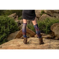 Moon's Eye Corset Leg Warmers. Merino Wool. Thigh Highs. Crochet Knee... ($105) ❤ liked on Polyvore featuring intimates, hosiery, thigh high hosiery, thigh high leg warmers, wool leg warmers and crochet leg warmers