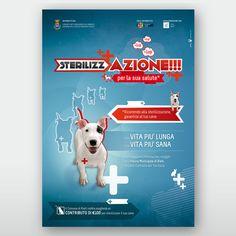 SterilizzAZIONE Studio e Ideazione Concept per Campagna di sensibilizzazione per la sterilizzazione canina e realizzazione logotipo. Sono stati realizzati 3 concept per 3 messaggi chiave: contro l'abbandono, il randaggismo e l'abbattimento.  Rieti   Mirko Cianca   Grafica
