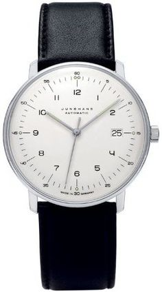 """One of the simplest, most beautiful watches I have seen in a while. The """"Max Bill"""" watch by Junghans. ~$1000."""