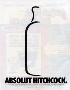 Absolut Vodka Alfred Hitchcock