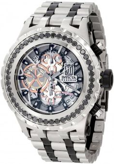 Invicta 12957 Jason Taylor Black Diamond Automatic Skeleton Watch For Men