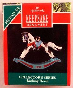 09/03/15 eBay $3  Hallmark Keepsake Miniature 1990 Rocking Horse #3 in Series with box -  seller: boystoyz