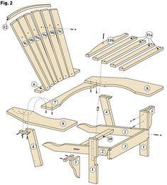 Adirondack Chair Plans Free, Adirondack Furniture, Adirondack Chairs, Wooden Furniture, Outdoor Chairs, Furniture Design, Outdoor Decor, Garden Sofa, Wooden Pallet Projects